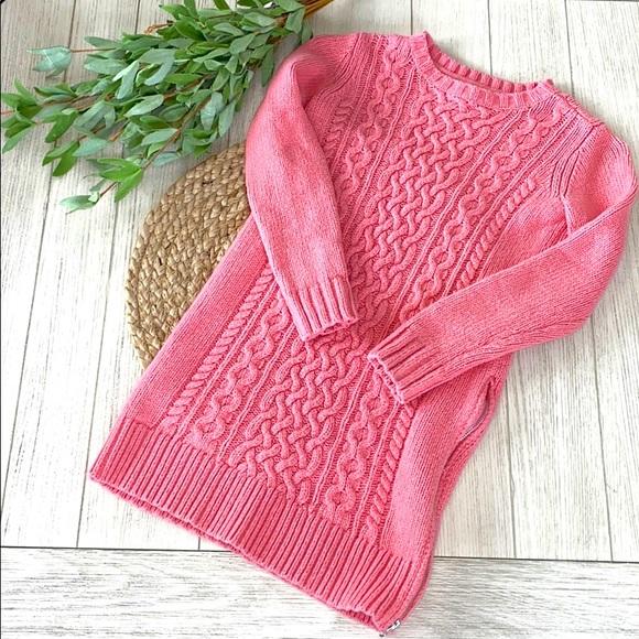 Girls Gap coral sweater dress size 8 medium